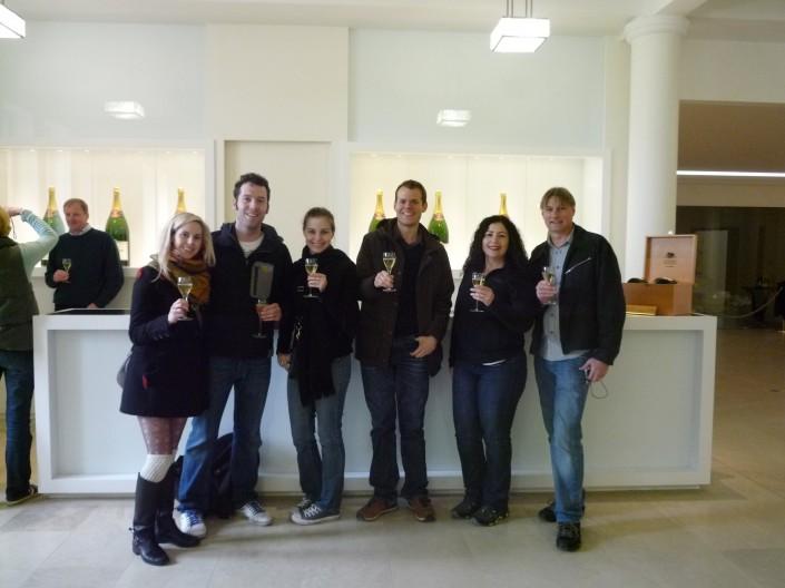 Champagne cellar visit